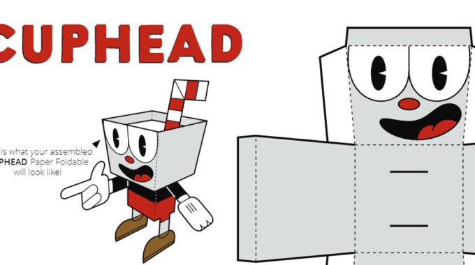 Download Now: Cuphead Paper Foldables