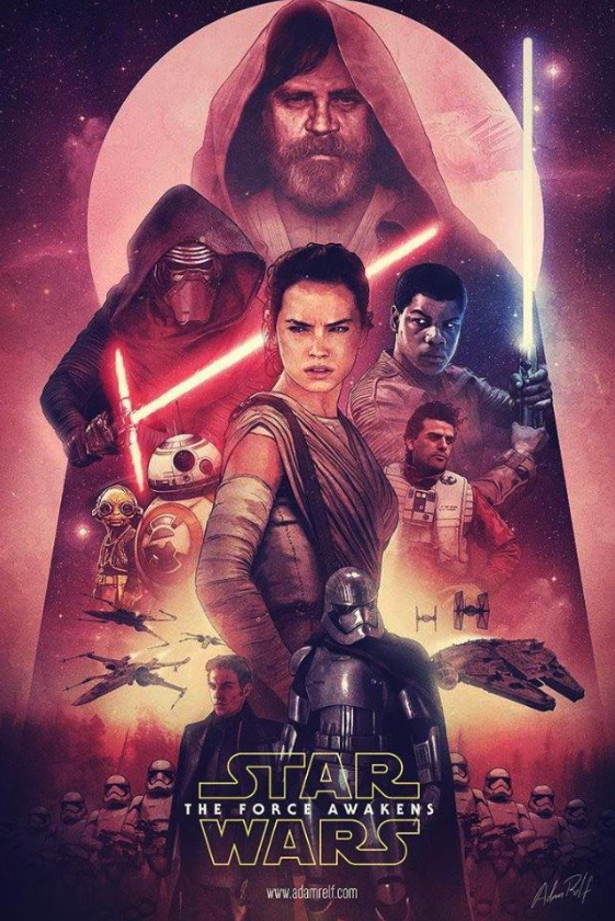 Early Concept Poster Art Of Star Wars The Force Awakens Featuring Luke Skywalker Rise Up Daily
