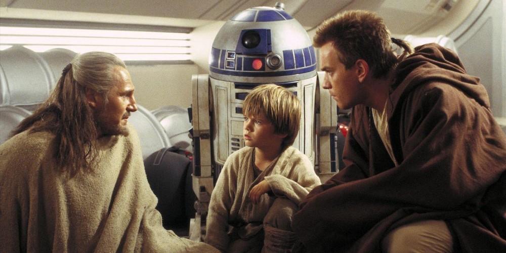 Liam Neeson Ewan Mcgregor Jake Lloyd Star Wars Episode 1 The Phantom Menace